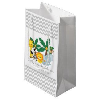 Sacola Para Presentes Pequena Saco do favor de Chevron do chá de fraldas do