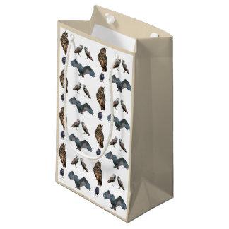 Sacola Para Presentes Pequena Saco do presente da agitação da coruja