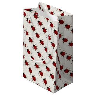 Sacola Para Presentes Pequena Saco do presente da joaninha