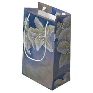 Sacola Para Presentes Pequena saco do presente de dois lírios brancos