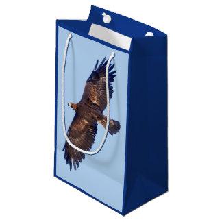 Sacola Para Presentes Pequena Saco do presente de Eagle dourado em vôo