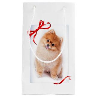 Sacola Para Presentes Pequena Saco do presente de Pomeranian