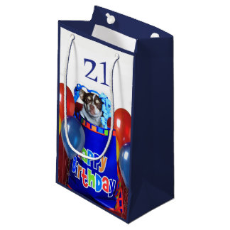 Sacola Para Presentes Pequena Saco do presente do cão da chihuahua do