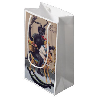 Sacola Para Presentes Pequena Saco do presente do cavalo de balanço de Krampus