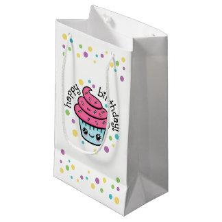 Sacola Para Presentes Pequena Saco do presente do cupcake do feliz aniversario