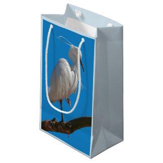 Sacola Para Presentes Pequena Saco do presente do Egret pequeno