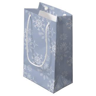 Sacola Para Presentes Pequena Saco do presente do floco de neve