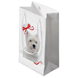 Sacola Para Presentes Pequena Saco do presente do Natal de Westie