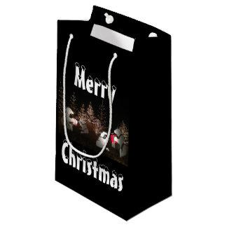 Sacola Para Presentes Pequena Saco do presente do Natal do urso polar