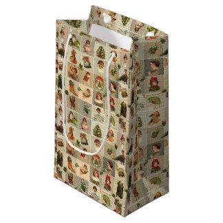 Sacola Para Presentes Pequena Saco do presente do natal vintage - pequeno,