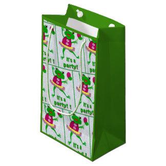 Sacola Para Presentes Pequena Saco do presente do partido do sapo verde para