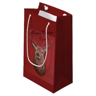 Sacola Para Presentes Pequena Saco do presente do veado do veado vermelho das