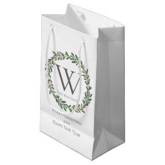 Sacola Para Presentes Pequena Saco do presente dos Sprigs do inverno do Natal do