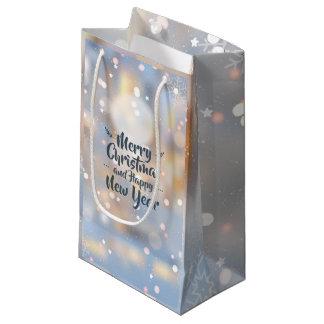 Sacola Para Presentes Pequena Saco elegante do presente do Natal & do feliz ano