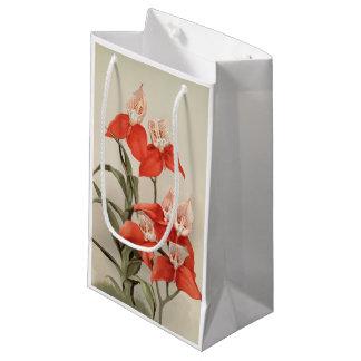 Sacola Para Presentes Pequena Saco floral vermelho do presente da arte do DISA
