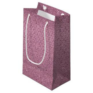 Sacola Para Presentes Pequena Saco Glittery Cerise do presente