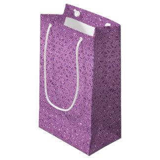 Sacola Para Presentes Pequena Saco Glittery cor-de-rosa do presente