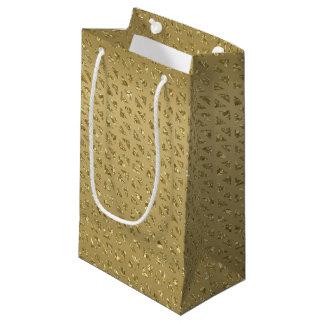 Sacola Para Presentes Pequena Saco Glittery do presente do ouro