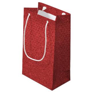 Sacola Para Presentes Pequena Saco Glittery vermelho do presente
