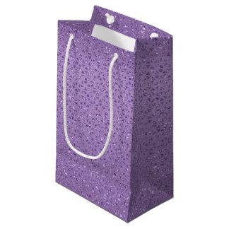 Sacola Para Presentes Pequena Saco Glittery violeta do presente