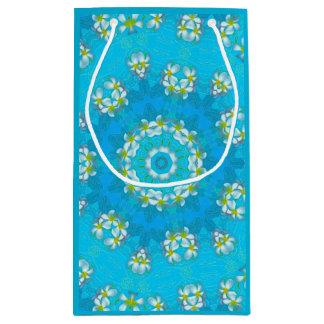 Sacola Para Presentes Pequena Saco havaiano azul do presente dos leus do