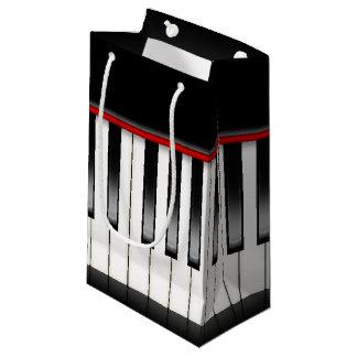 Sacola Para Presentes Pequena Saco legal do partido do piano dos melómanos