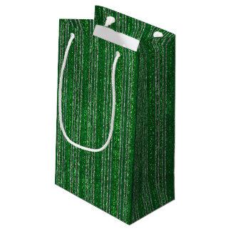 Sacola Para Presentes Pequena Saco listrado Glittery do presente