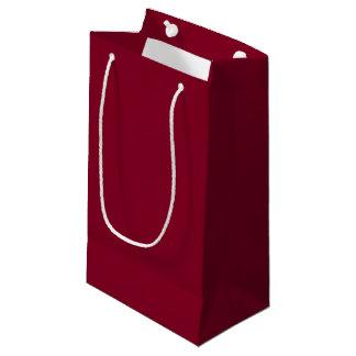 Sacola Para Presentes Pequena Saco pequeno do presente de Borgonha