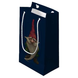 Sacola Para Presentes Pequena Saco pequeno do presente do gnomo velho do Natal
