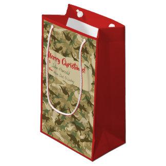 Sacola Para Presentes Pequena Saco pequeno do presente do Natal do dinossauro da