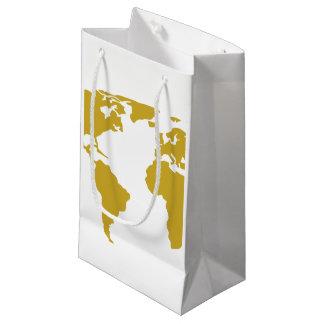 Sacola Para Presentes Pequena Saco pequeno do presente ou saco do favor - mapa