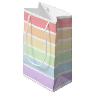 Sacola Para Presentes Pequena Saco pequeno listrado do presente do arco-íris