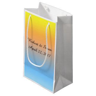 Sacola Para Presentes Pequena Saco personalizado do presente com cores da praia