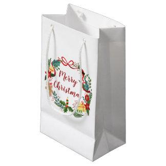 Sacola Para Presentes Pequena Saco simples do presente da grinalda | do Feliz
