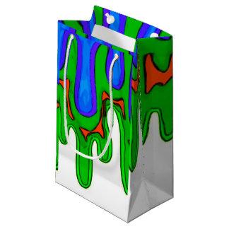 Sacola Para Presentes Pequena Saco verde do limo