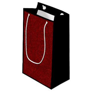 Sacola Para Presentes Pequena Saco vermelho do presente do teste padrão do pixel