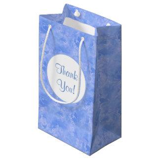 Sacola Para Presentes Pequena Safira subtil do Azure do inverno do Aqua azul da
