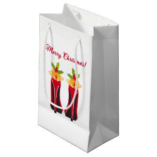 Sacola Para Presentes Pequena Saltos altos vermelhos com Natal Bels