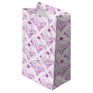 Sacola Para Presentes Pequena seja rosa bravo