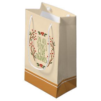Sacola Para Presentes Pequena Simples dê a obrigados o saco do presente da acção