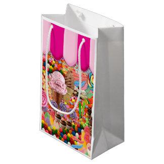 Sacola Para Presentes Pequena Sorvete doce super dos doces engraçado