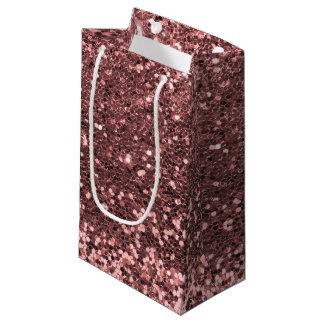 Sacola Para Presentes Pequena Sparkles cor-de-rosa do impressão do brilho do