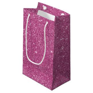Sacola Para Presentes Pequena Sparkles do brilho do rosa quente