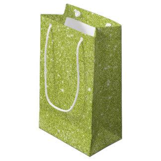 Sacola Para Presentes Pequena Sparkles do brilho do verde limão