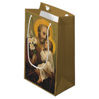 Sacola Para Presentes Pequena St Joseph e bebê Jesus