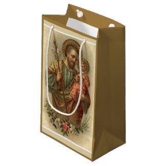 Sacola Para Presentes Pequena St Joseph e bebê Jesus mim 2 imagens diferentes