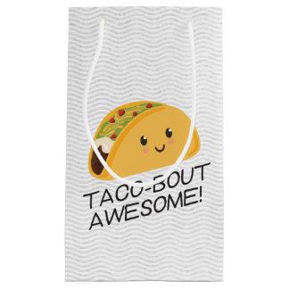 Sacola Para Presentes Pequena Taco-ataque bonito do Taco de Kawaii
