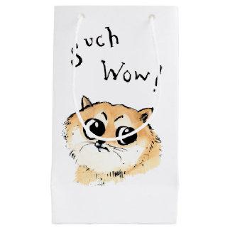 Sacola Para Presentes Pequena Tal wow! Doge Meme