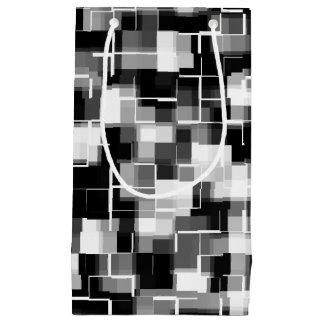 Sacola Para Presentes Pequena Teste padrão branco preto na moda do abstrato das
