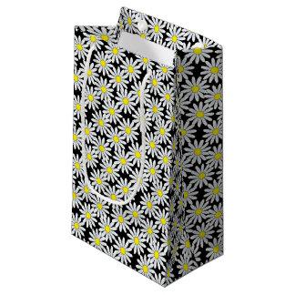 Sacola Para Presentes Pequena Teste padrão da margarida branca no saco pequeno